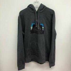 Marmot Hoodie: Grey
